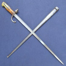UVF Used French Gras Bayonet, Modified to fit Gewehr 88 1